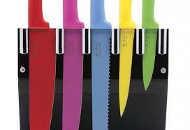 coloured kitchen knives pro 5 multi colour knife set