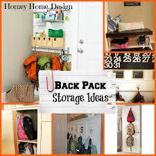 entryway backpack storage homey home design back to school organization part 2