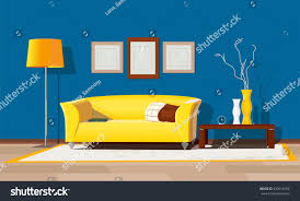 living room design modern house interior stock vector 630916958