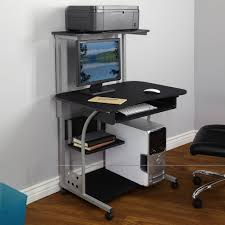 Small Laptop And Printer Desk by Small Compact Mobile Portable Computer Tower With Shelf Desk With