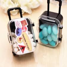 Suitcase Favors mini rolling travel suitcase favor 6 pcs theme wedding