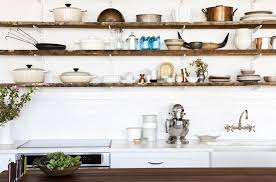 kitchen wall shelving ideas farmhouse kitchen wall shelves lewtonsite com