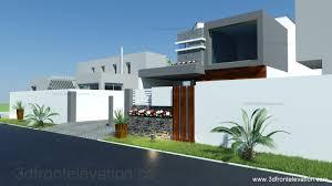 3d front elevation com 8 marla house plan layout elevation