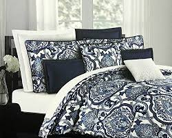 Black And White Paisley Comforter Blue Queen Sized Comforter