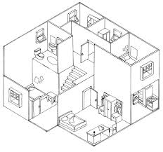 floor plan with perspective house plan oblique and isometric technical drawings u2013 jadineinteriordesign