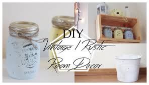 Diy Bedroom Ideas by Vintage Rustic Inspired Diy Room Decor Lara Elizabeth Youtube