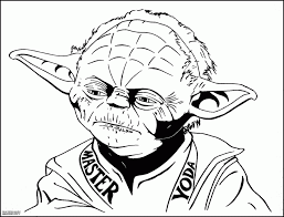 star wars coloring pages yoda coloring home