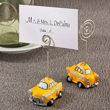 Nyc Wedding Favors by Nyc Taxi Cab Place Card Holders Nyc Wedding Favors