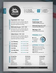 Adobe Illustrator Resume Template Adobe Resume Template