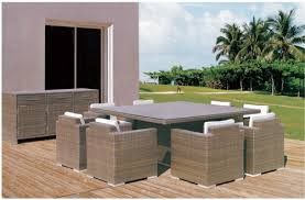 Wicker Style Outdoor Furniture by Family Style Outdoor Wicker Dining Table Set Family Style