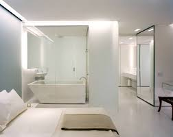 Open Bedroom Bathroom Design by Olympic Tower Residence Gabellini Sheppard
