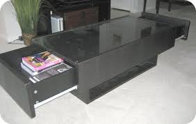 Storage Side Table Coffee Table Glass Top Coffee Table With Storage Glass Coffee