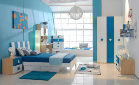 inspiring picture of kid blue and cream bedroom decoration using
