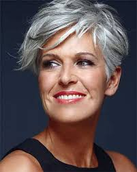 short grey hairstyles for straight thick hair gray very short hairstyles for oblong shaped face older woman with