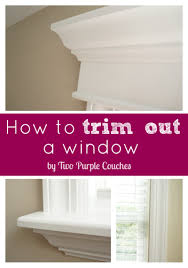 How To Trim Windows Interior How To Replace An Interior Window Sill Two Purple Couches