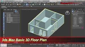 3ds max basic 3d floor plan modeling wall door windows tutorial