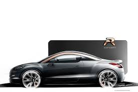 peugeot rcz black peugeot unveils rcz facelift and rcz r study with 260hp both go