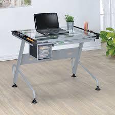 Glass Top Drafting Drawing Table Desks Furniture Decor Showroom