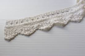 white lace trim by the yard triangle crochet trim trim with