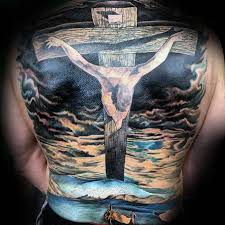 40 jesus back designs for religious ink ideas