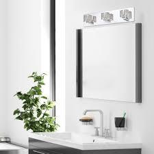 chrome bathroom light fixture the welcome house