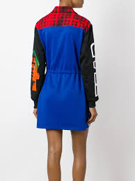 moschino panelled sweatshirt dress women clothing moschino shoes