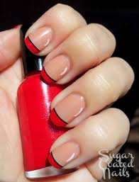 top 25 best red tip nails ideas on pinterest red black nails