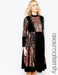 asos maternity maxi dress in winter floral maternity clothes