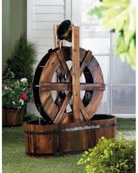 special wooden water wheel outdoor lawn ornament