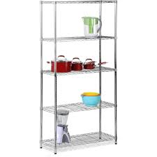 Wire Shelf Units Honey Can Do Urban Shelving 5 Tier Adjustable Storage Shelving