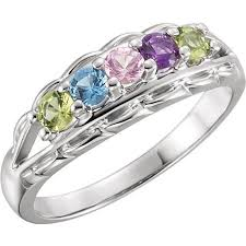 a mothers ring silver 1 to 5 stones s ring