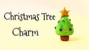 diy kawaii christmas tree charm polymer clay tutorial kawaii
