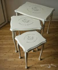 Shabby Chic Table by Vintage Shabby Chic Nest Of Tables No 13 Touch The Wood