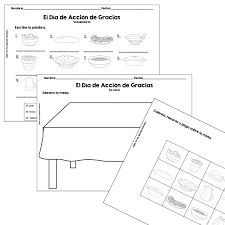roll a thanksgiving dinner in spanish product fun for spanish