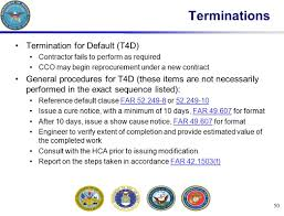 Notice To Terminate Contract by Contingency Contracting Training Ppt Download