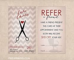 hairstylist referral cards hair salon referral cards simple