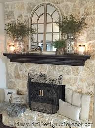a few key pieces like the glass jars and driftwood decor from homegoods made styling our mantle an easy task