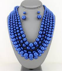 blue pearl necklace images Royal blue pearl necklace set ladivine boutique jpg