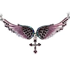 wings cross necklace memorablecollections