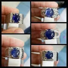 model cincin blue safir stock cincin perak blue safir afrika polos pernikmartapura
