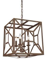 Wide Chandelier F3171 4wi 4 Light Chandelier Weathered Iron
