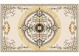 constantine square marble floor medallion tile square medallion