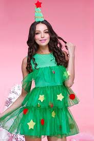 green tiered tree costume costumes for