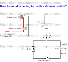 How To Change A Ceiling Fan by How To Install Ceiling Fan With A Dimmer Switch Part 1