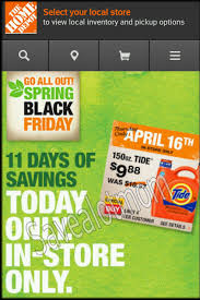spring black friday saving in home depot wow tide for 8 88 head to home depot now or price match at