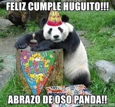 feliz cumple huguito abrazo de oso panda happy birthday panda