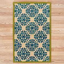 World Market Rug Jute Boucle Printed Medallions Rug Blue Rugs Home Decor
