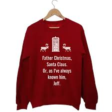 dr who jumper sweater shirt