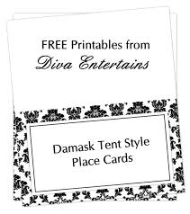 free printable table tents fab friday free damask place cards