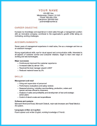What Are Some Good Career Objectives Resume Objective For Retail Supervisor Position Resumes